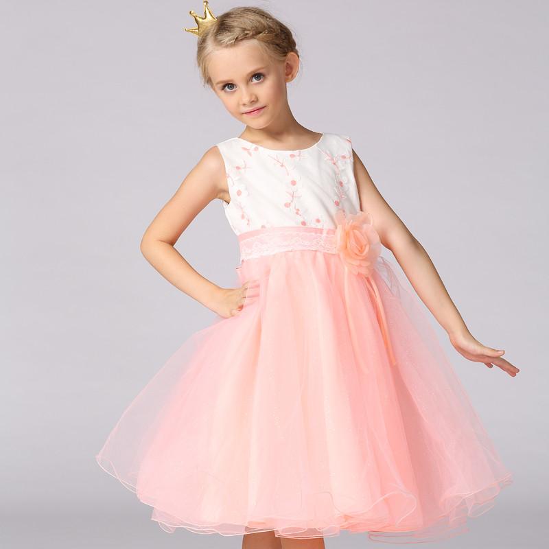 Último diseño vestido del bebé vestido de tul elegante bordado ...