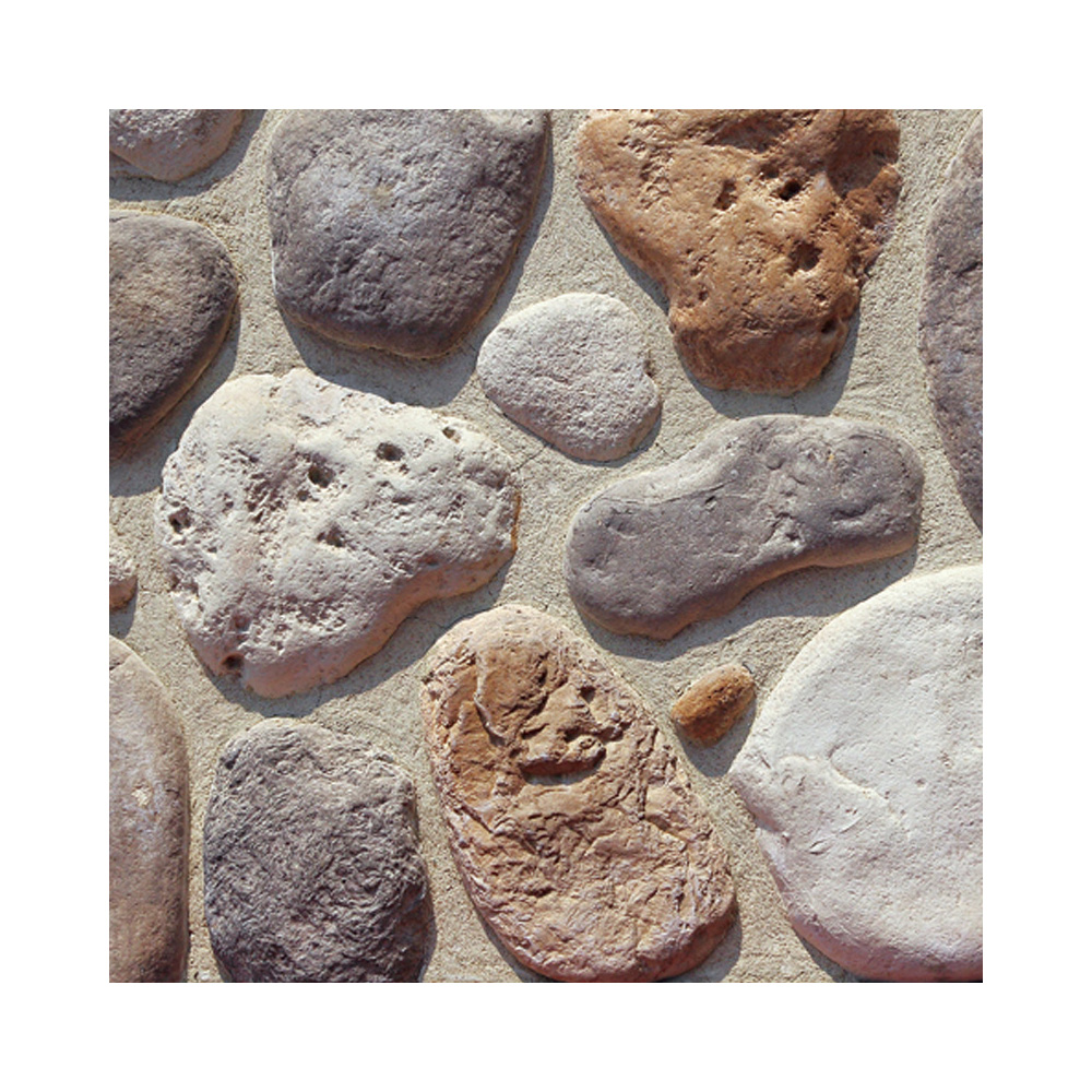 cobblestone cultured stone artificial river rock outdoor garden stone wall <strong>tile</strong> decorative <strong>pebble</strong> stone faux stream rock