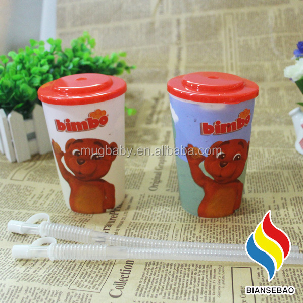 For Kids With Lid And Straw Promotional Cool Plastic 3D Drinking Cups