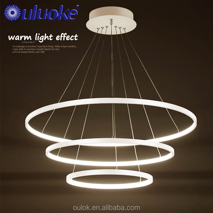 Promotion Factory Price Acrylic Simple Rings Pendant Light Office Pendant Led Chandelier China