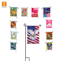 Custom seasonal garden flag set wholesale ,garden flag with diy ,garden flag