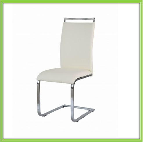 Cheap Best-Selling Italian Cream Painted Dining Chairs Cream Leather Dining Chair