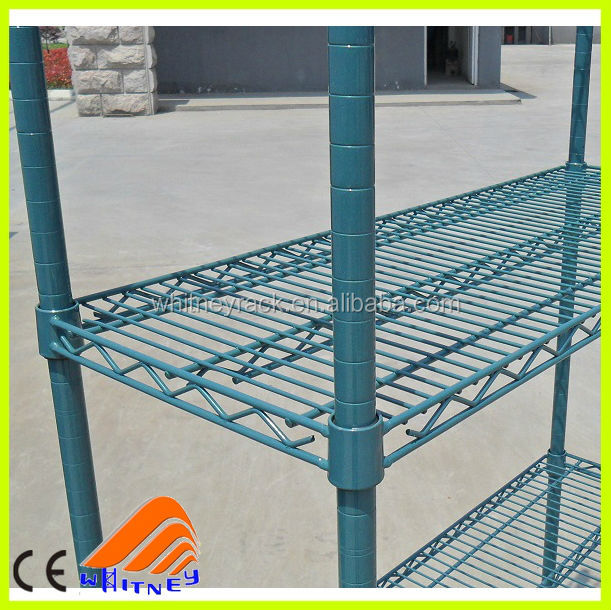 Household Green Coated Wire Shelves,Grid Wire Storage Cube - Buy ...