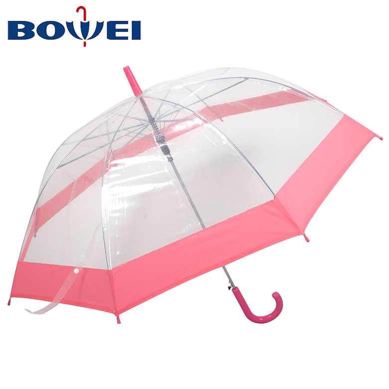 China supplier newest poe material transparent kids umbrella for rainproof