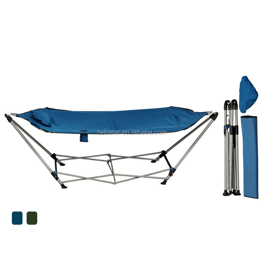 Steel Frame Stand Portable Folding Hammock With Carry Bag