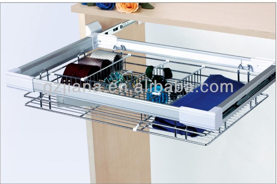 pull aus metall draht schublade korb veranstalter f r schrank m belzubeh r produkt id. Black Bedroom Furniture Sets. Home Design Ideas