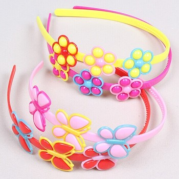 Baby headband candy color children head hoop kids princess plastic hair  bands kinky curly clip in 60680434e97