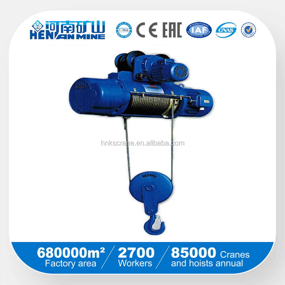 Stainless steel rope electric hoist/electri hoist/CD MD hoist with best quality