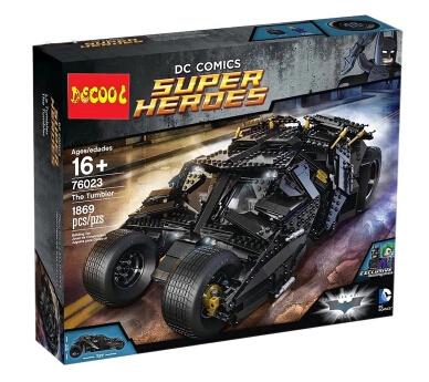 2016 New DECOOL 1869pcs 7111 Batman chariot The Tumbler Joker Toy building blocks Superhero Series boy