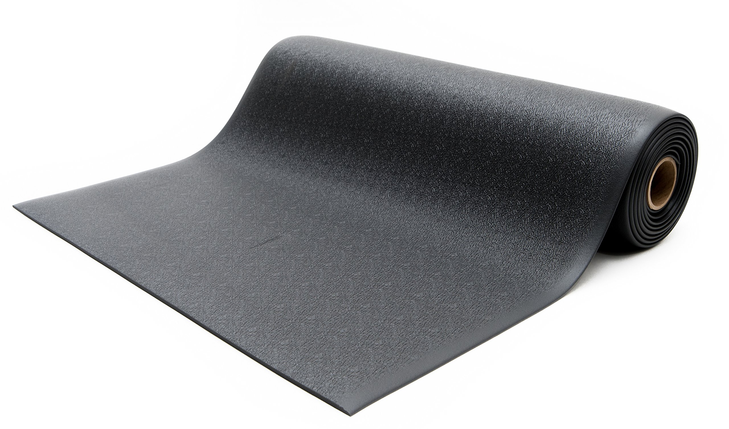 Made in USA Bertech Anti Fatigue Vinyl Foam Floor Mat Black Textured Pattern Bevelled on All Four Sides 3 Wide x 5 Long x 3//8 Thick