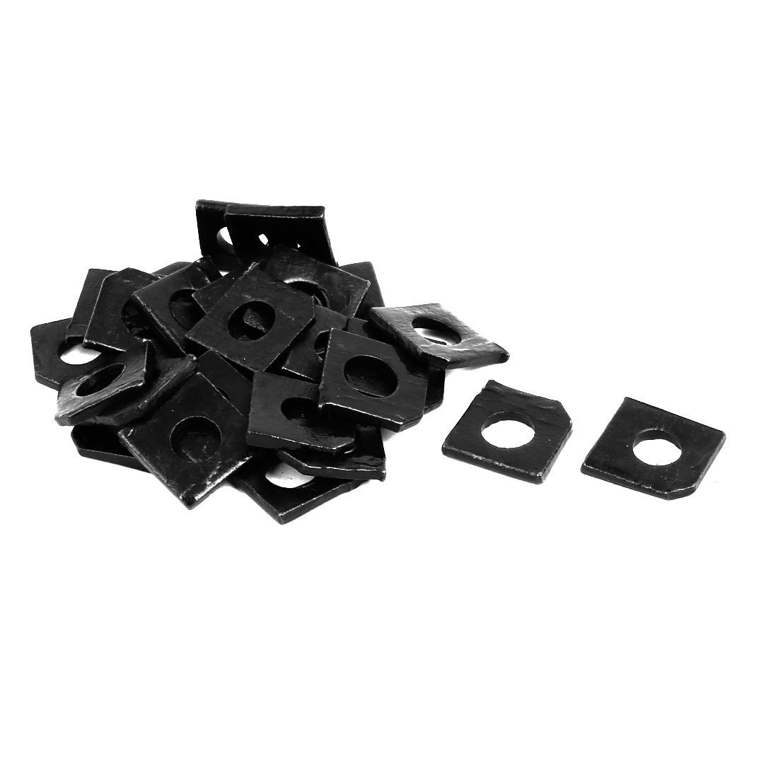 uxcell 6mm Fitting Dia Carbon Steel Slot Section Square Bevel Washer 30pcs