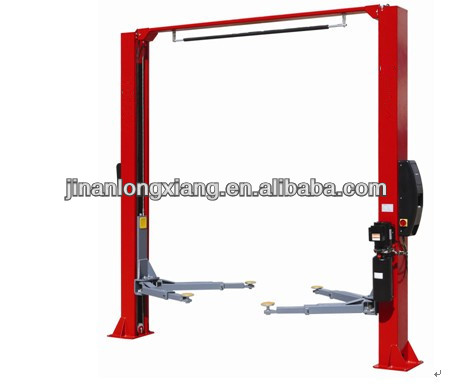 LX-Y-2-35C Floor plate Two Post Car Lift with electrical Release symmetrical arms