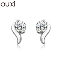 2017 New Arrival High quality 925 silver jewelry wholesale latest style women diamond stud earrings