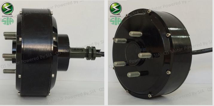 QS Motor 1000W - 3000W 205 brushless dc electric car singhle shaft wheel hub motor