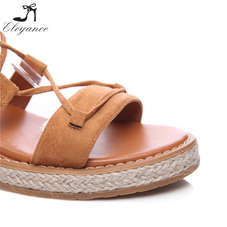 0560307c7e5d New Design Roman Lace-up Gladiator Hemp Shoes Fashion Flat Summer Sandals  2017 for Women