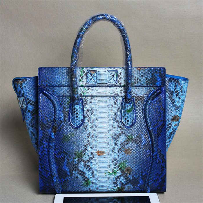 Luxury genuine python skin bag new designer lady fashion leather women bags handbag