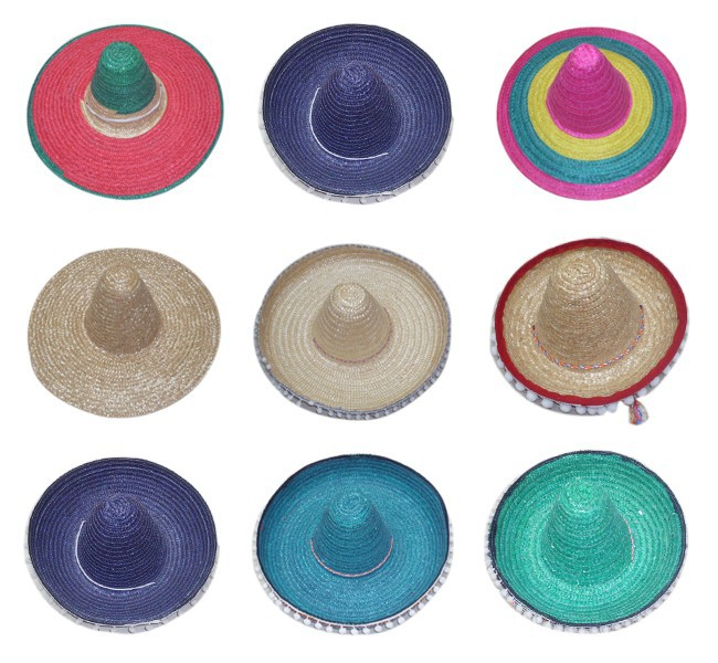 Cheap Custom Fashion Big Brim Mexican Sombrero For Sale