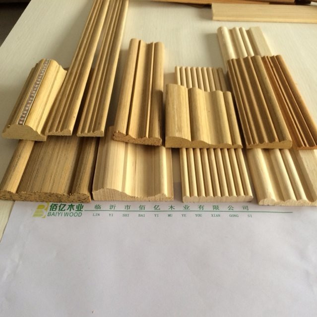 Flat Decorative Wooden Mouldings For Door/window/furniture