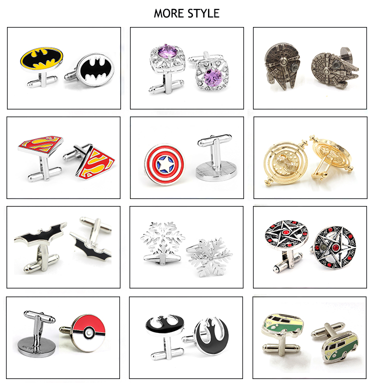Top High Quality Vintage French Style Enamel Shirt Brand Extraterrestrial CuffLinks