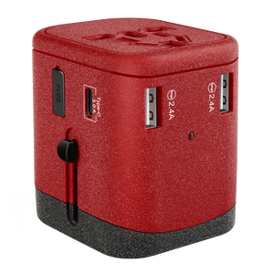 Newest product Type C quick charger international Travel Universal Charger Plug 100V to 240V Power Adapter USB socket
