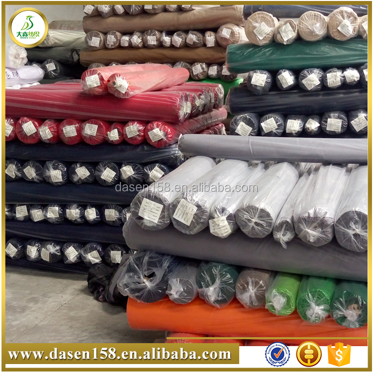 Made in china Qingdao cloth fabric for pants drill weave cotton twill knitted stocklot fabric