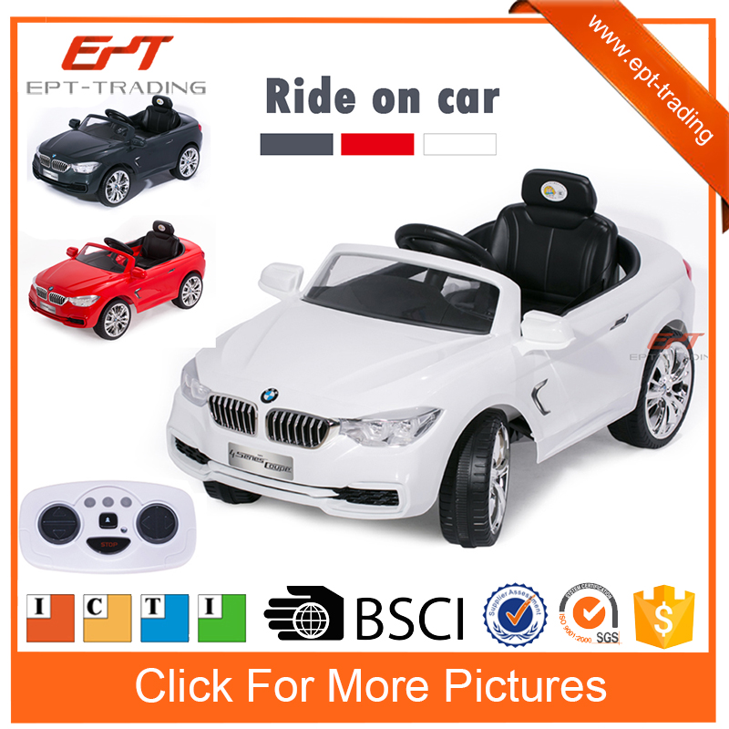 Wholesale electric ride on baby car for kids with 12v rc car battery