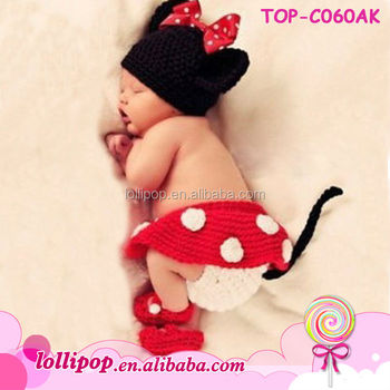 Cute crochet animal pattern infant baby girl hat with baby diaper cover and  shoe a9bc7c2dcde