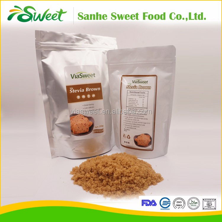 High quality international price stevia brown blend sugar from GMP factory