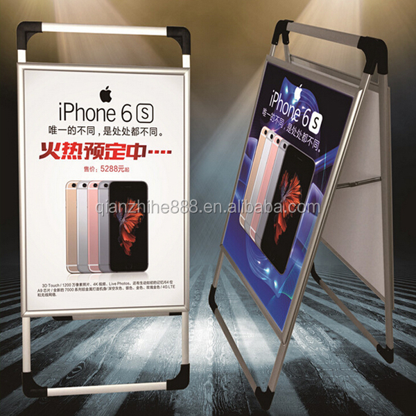 2016 poster stand display with handle advertising