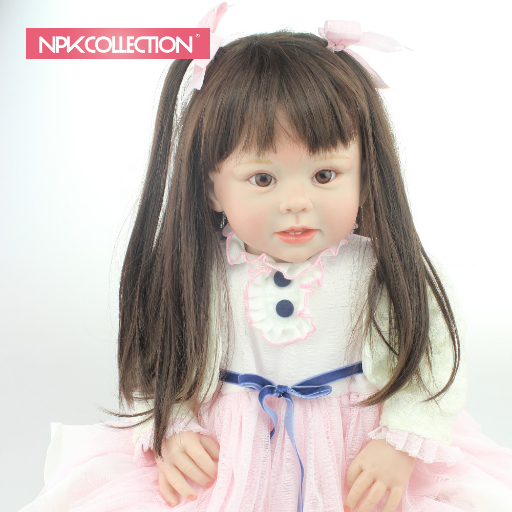 NPKCOLLECTION reborn <strong>doll</strong> with soft real gentle touch lifelike reborn toddler <strong>doll</strong> soft silicone vinyl 28inches