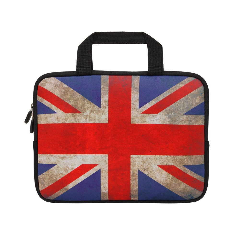 "British Flag 16""/ 16.5""/ 17"" / 17.3""/17.4"" inch Laptop Sleeve With Handle Zipper Pocket/Notebook Computer Case/Ultrabook Tablet Briefcase Carrying Bag For Acer/Asus/Dell/Lenovo/HP/Samsung/Sony"