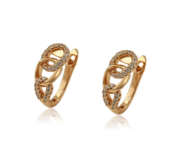97950 Xuping new arrival gold women fashion jewelry circle style pendant acrylic earrings