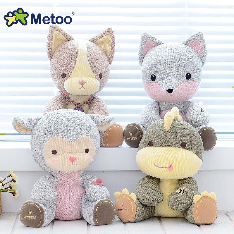 9 Inch Plush Sweet Cute Stuffed Brinquedos Lovely Cartoon Baby Kids Toys for Girls Birthday Christmas Gift Animals Metoo Doll
