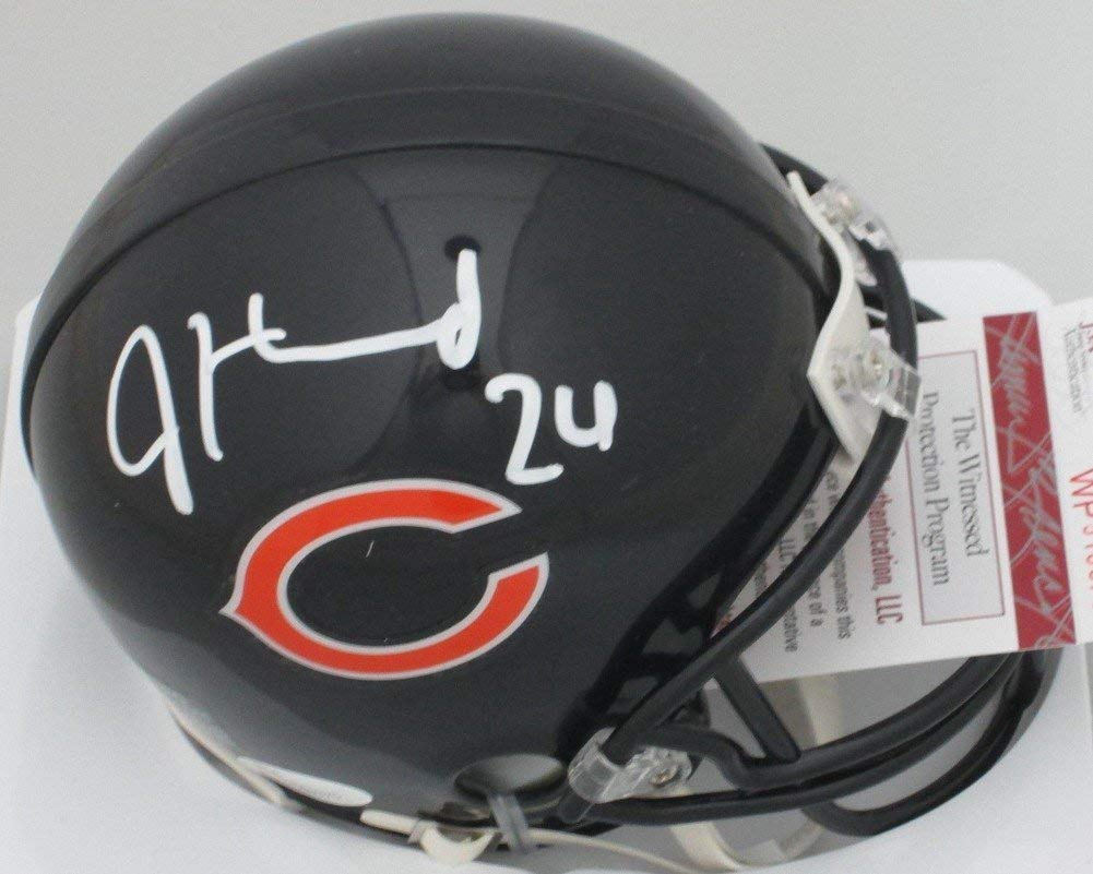 Bears Jordan Howard Autographed Signature Autograph Mini Helmet Auto 2016 Draft Pick JSA Certified