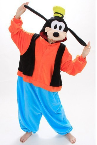 Hot Adults Costumes Anime Goofy Onesie Cute Goofy Dog Pajamas Sleepwear Costumes For Unisex