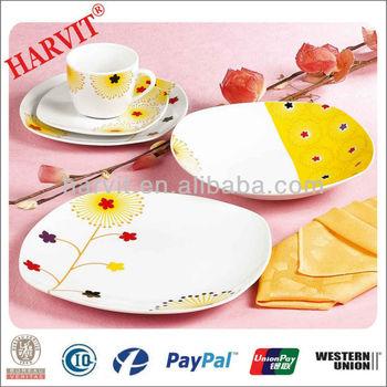 20pcs Square Ceramic Dinnerware/Brand Names of Dinner Sets/Porcelain Square Dinnerware Set  sc 1 st  Alibaba & 20pcs Square Ceramic Dinnerware/brand Names Of Dinner Sets ...
