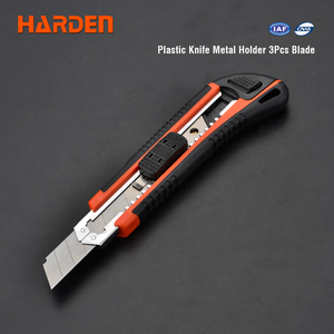 Harden Wholesale Multi Functional China Custom Cutting Tools 18mm 3Pcs Safety Plastic Utility Knife