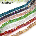AB Color Square Glass Necklace Beads Crystal Wedding Decorations