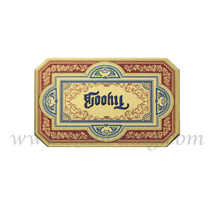 Embossed 3m Adhesive Gold Logo Makeup Box Metal Label