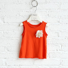 100% soft cotton childrens kids wear china fashion vest for girls