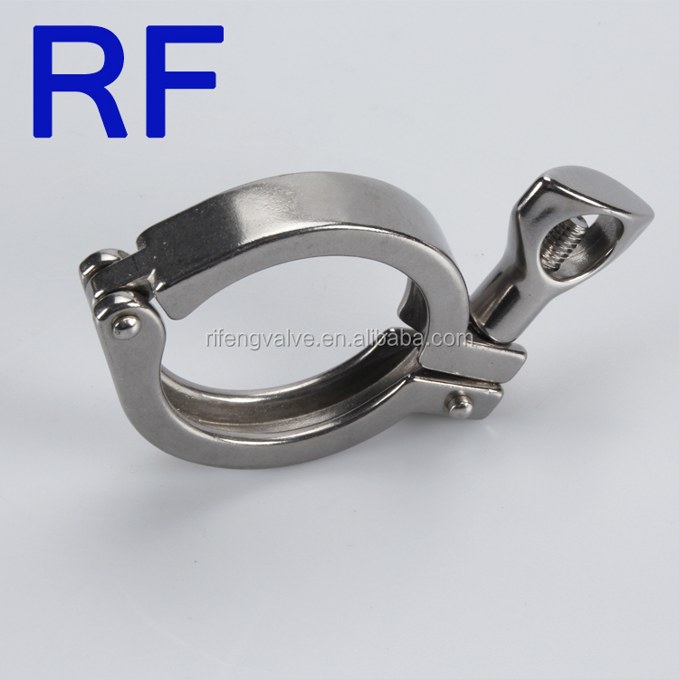 RF Sanitary single pin heavy duty clamp