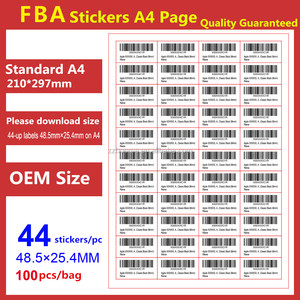 48.5*25.4mm/44 stickers FNSKU label color printing private label drop shipping stickers