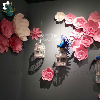 Free shipping artificial paper flowers wall backdrop flower buy free shipping artificial paper flowers wall backdrop flower mightylinksfo