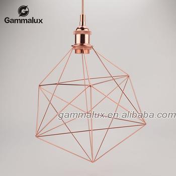 Stylish Copper Cage Pendant Lamp