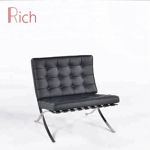 New products Modern Classic Home Office Furniture Stainless Steel Barcelona Lounge Chair