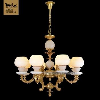 Decorative Hotels 8 Lights Bronze Spanish Alabaster Antler