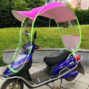 China cheap windproof sunshade motorbike umbrella electric scooter rain proof cover awning motorcycle umbrella parasol