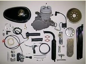 Motorized Bike Gas Engine Kits 80cc Motorised Bicycle Push 2 Stroke Motor