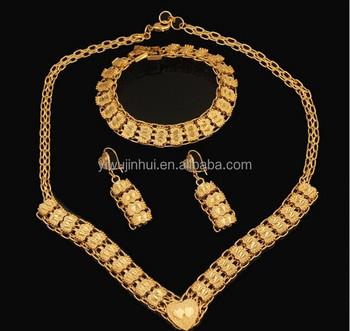 Jewelry Set Wholesale Price Dubai 18k Gold Plated Jewelry Set Buy