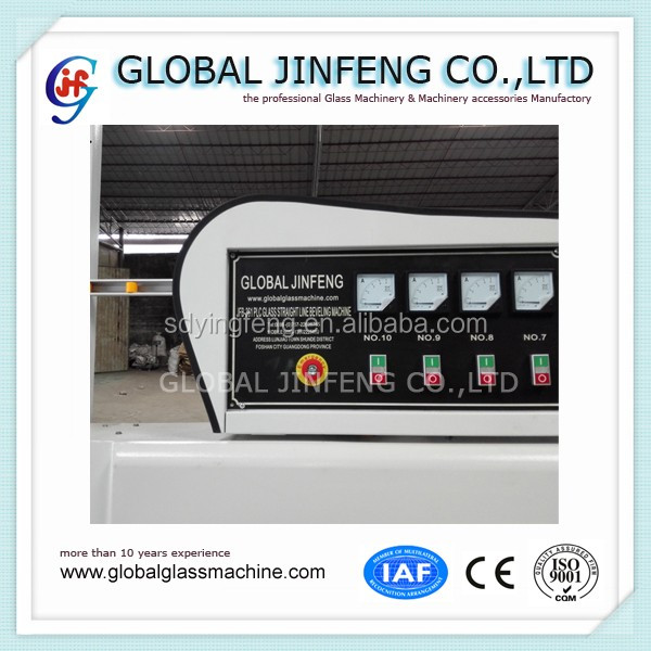 10 engines Glass straight line beveling edge grinding and processing machinery factory